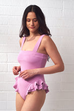 Load image into Gallery viewer, Lavender Ruffle Trim Swimsuit