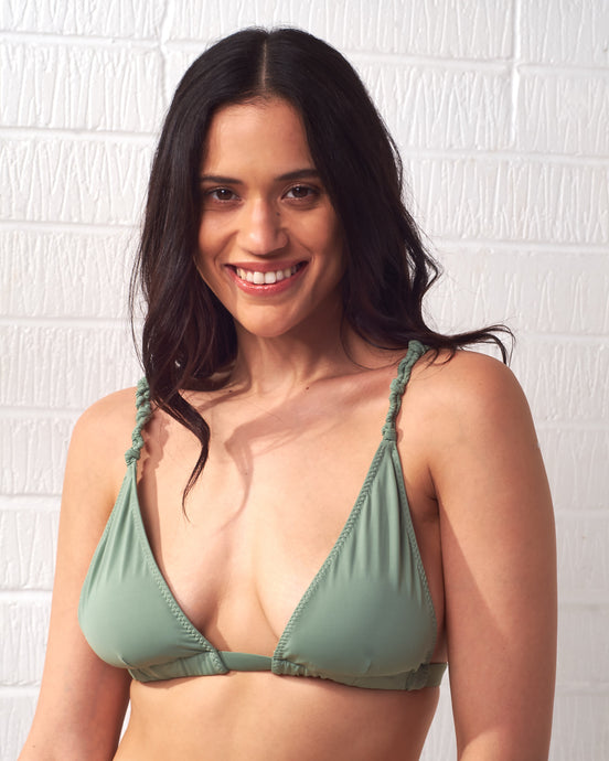 Green Twisted Rope Bikini Top