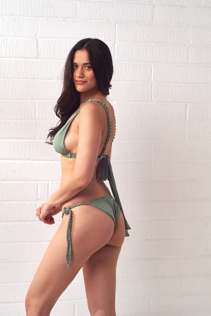 Green Twisted Rope Bikini Bottoms