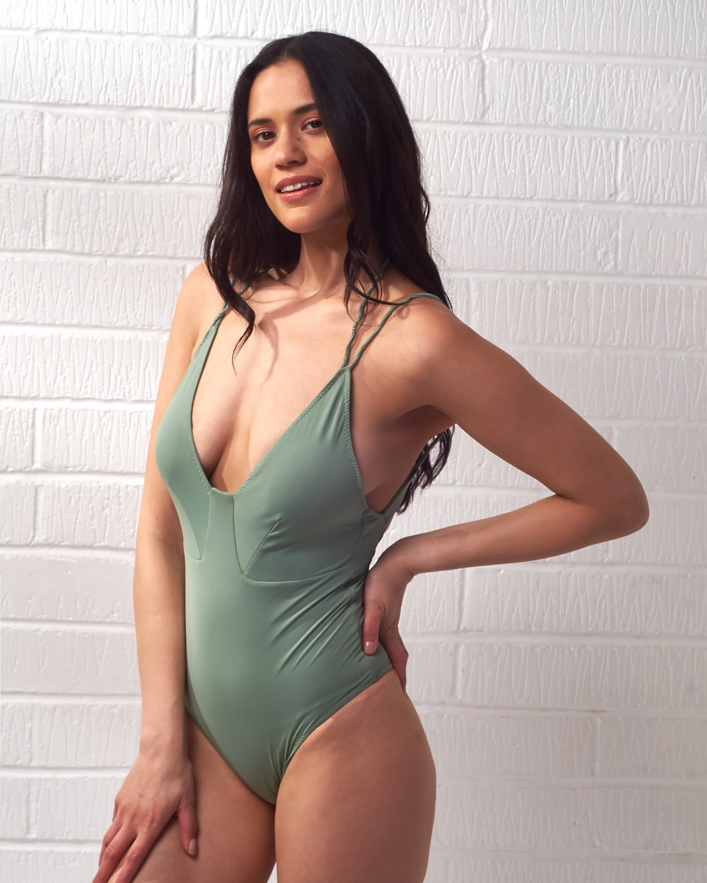 Green Twisted Rope Swimsuit