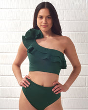 MAYGEL CORONEL | BLAIZ | Emerald Green Vos Two Piece