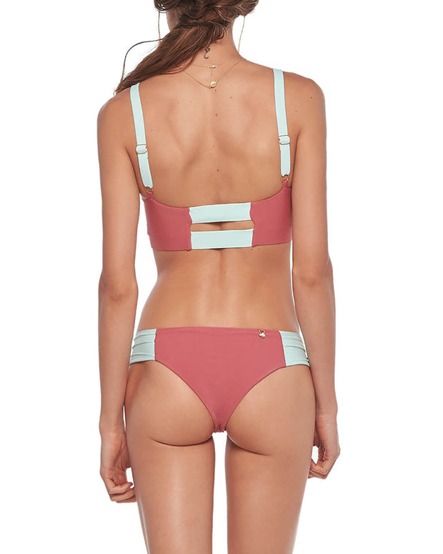 MALAI | BLAIZ | Coral Honeysuckle Bikini Bottom