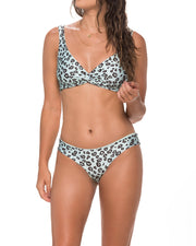MALAI | BLAIZ | Two Ways Twist & Tie Mint Leopard Bikini Top
