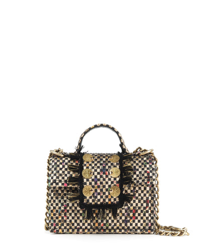 Gold Petite Checked Bag