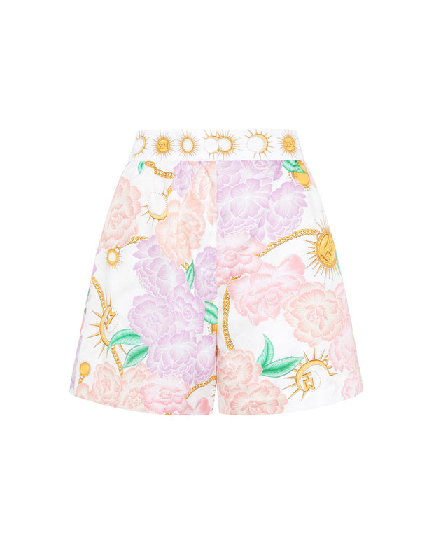 Luna Flora High Rise Shorts