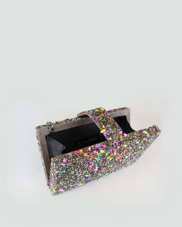 Silver Candy Clutch