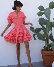 Coral Erato Mini Dress