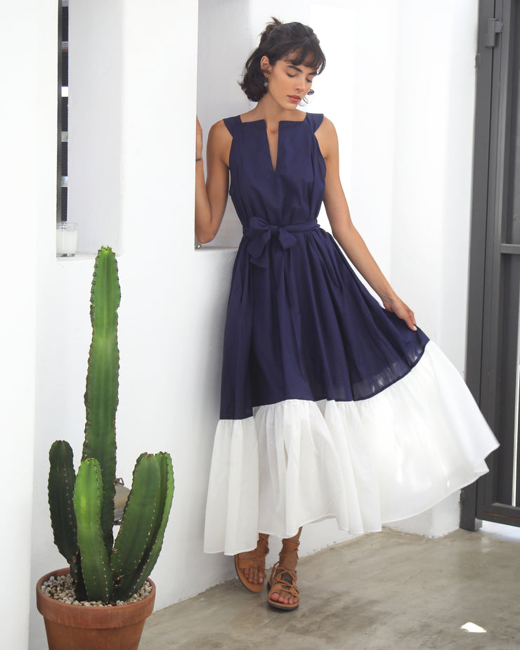 Navy Hera Sleeveless Dress