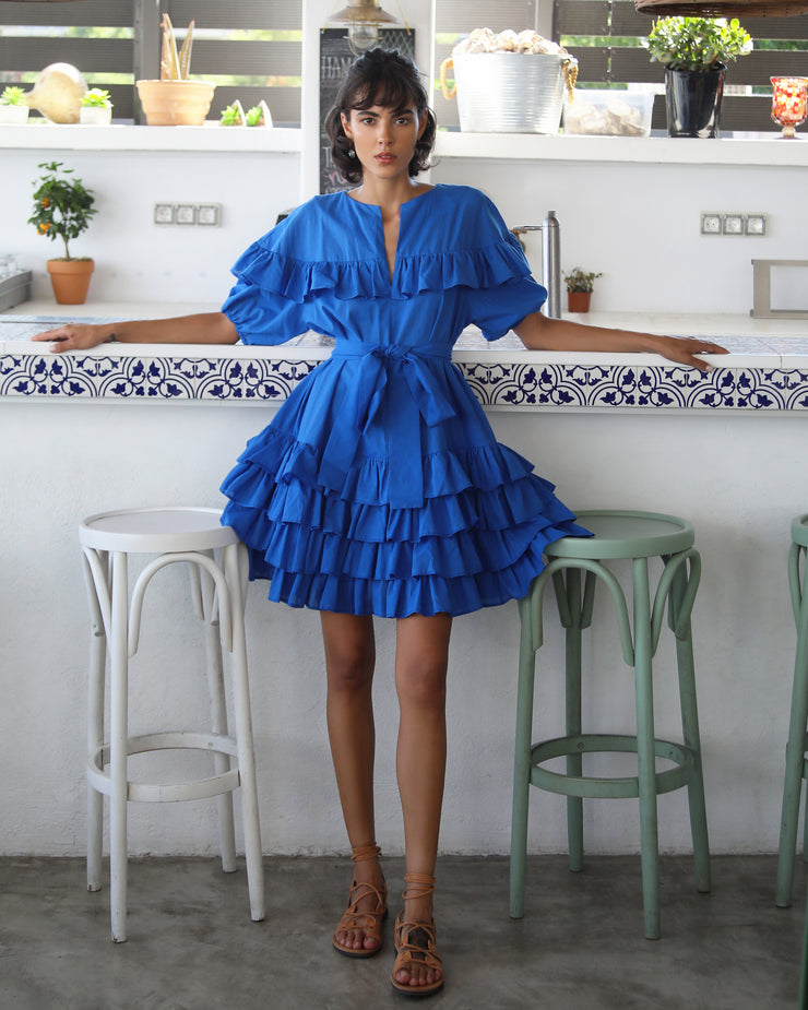 Cobalt Blue Erato Mini Dress