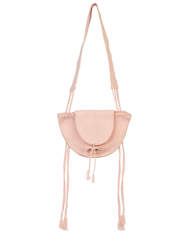 Rose Braided Cross-Body Bag