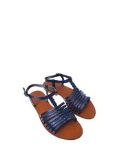 Blue Gladiator Leather Sandals