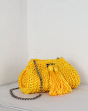 Load image into Gallery viewer, Yellow Crochet Cross-Body Bag
