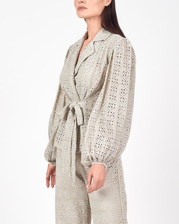 Angola Puff Sleeve Wrap Jacket