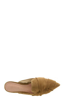 Load image into Gallery viewer, Beige Flat Suede Mules