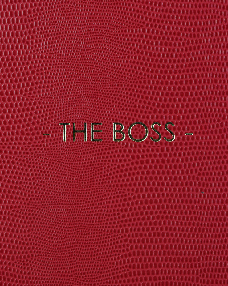 SLOANE STATIONERY | BLAIZ | The Boss 2021 Diary Notebook Red Gold