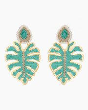 Green Leaf Earrings