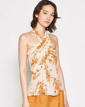 Load image into Gallery viewer, Floral Print Halter Neck Top