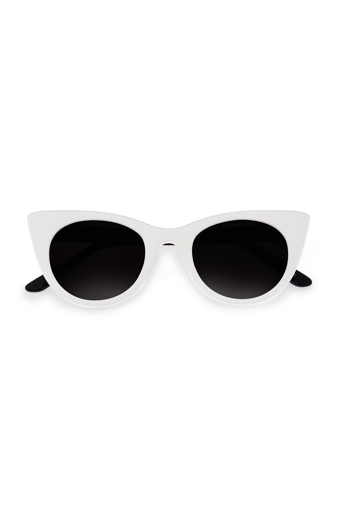 White Doshow Cat-Eye Sunglasses