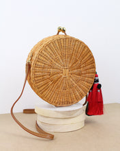 Load image into Gallery viewer, Round Hilary Wicker Bag
