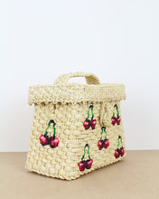 Load image into Gallery viewer, Small Cherry Straw Box Bag