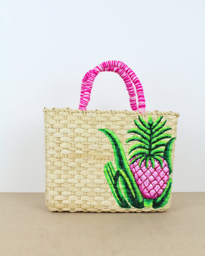 Medium Pineapple Straw Bag