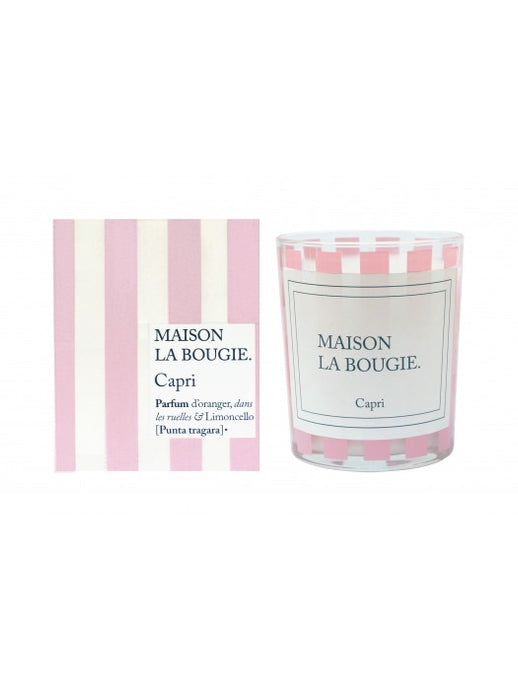 Capri Pink Striped Candle