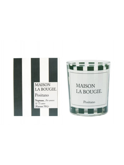 Positano Green Striped Candle