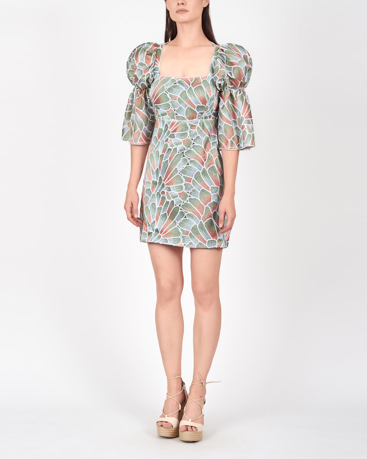 AZULU | BLAIZ | Lagos Petal Mini Puff Sleeve Dress
