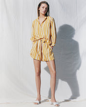 Load image into Gallery viewer, Yellow Parasol Striped Shorts