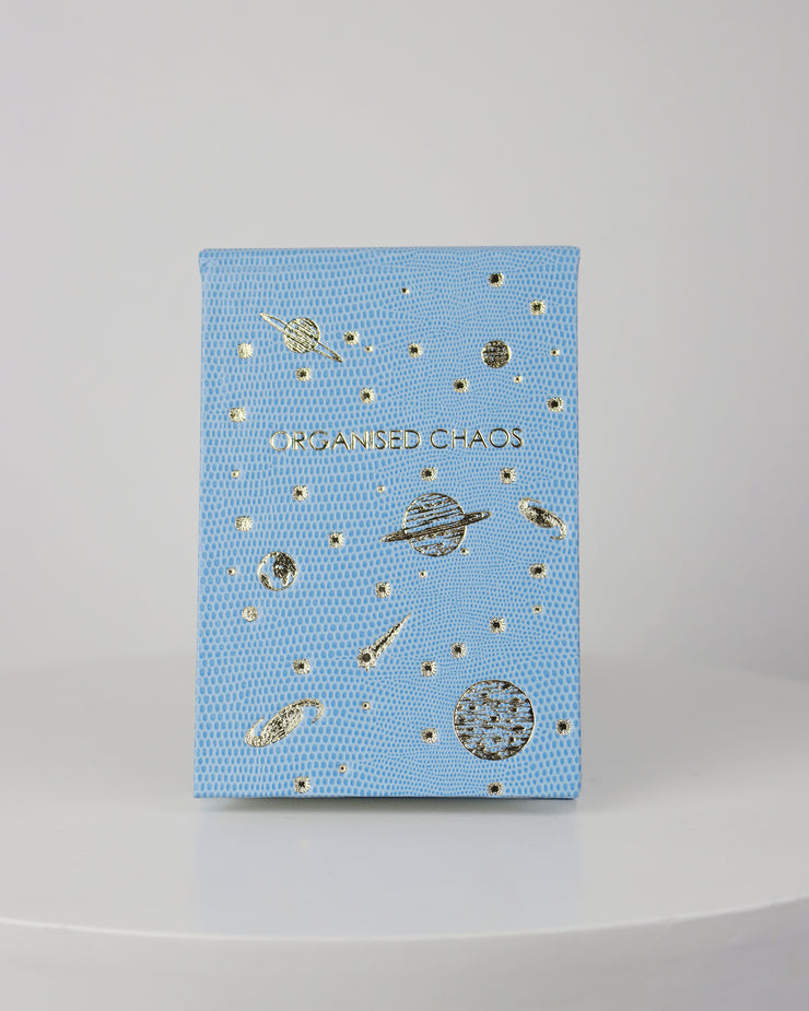 SLOANE STATIONERY | BLAIZ | Organised Chaos Blue Space Refillable Handmade Notepad