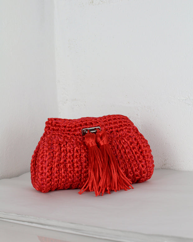 LADI FOR BLAIZ | BLAIZ | Red Crochet Cross-Body Bag