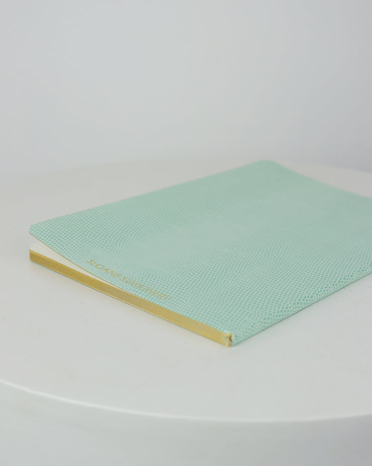 SLOANE STATIONERY | BLAIZ | Secret Notes Softcover Lined Notebook Turquoise Gold