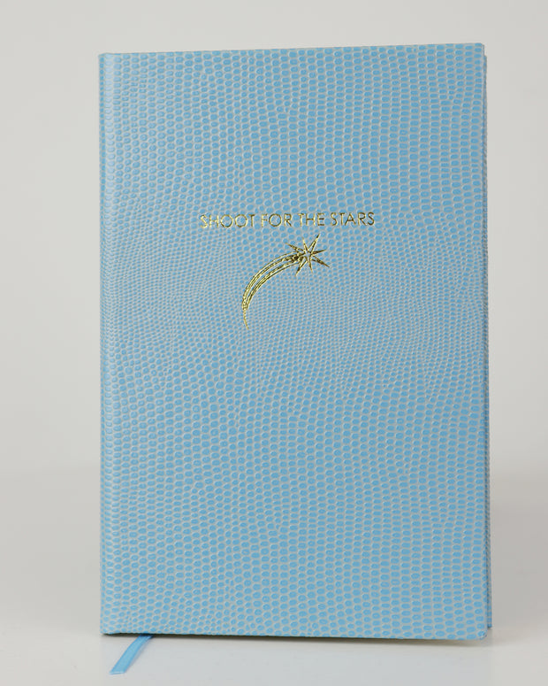 SLOANE STATIONERY | BLAIZ | Shoot for the Stars Pocket A6 Notebook Baby Blue