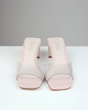 SCHUTZ | BLAIZ | Petal Pink Vinyl See Through Mules