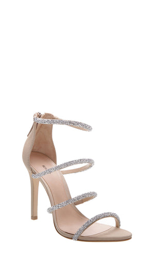 Nude Sparkly Strappy Sandals
