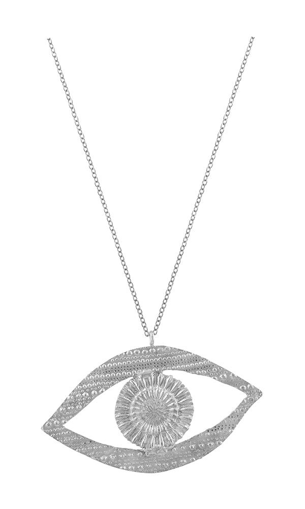 Silver Eye Sea You Large Necklace
