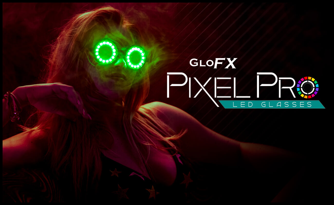 led light up pixel rave glasses