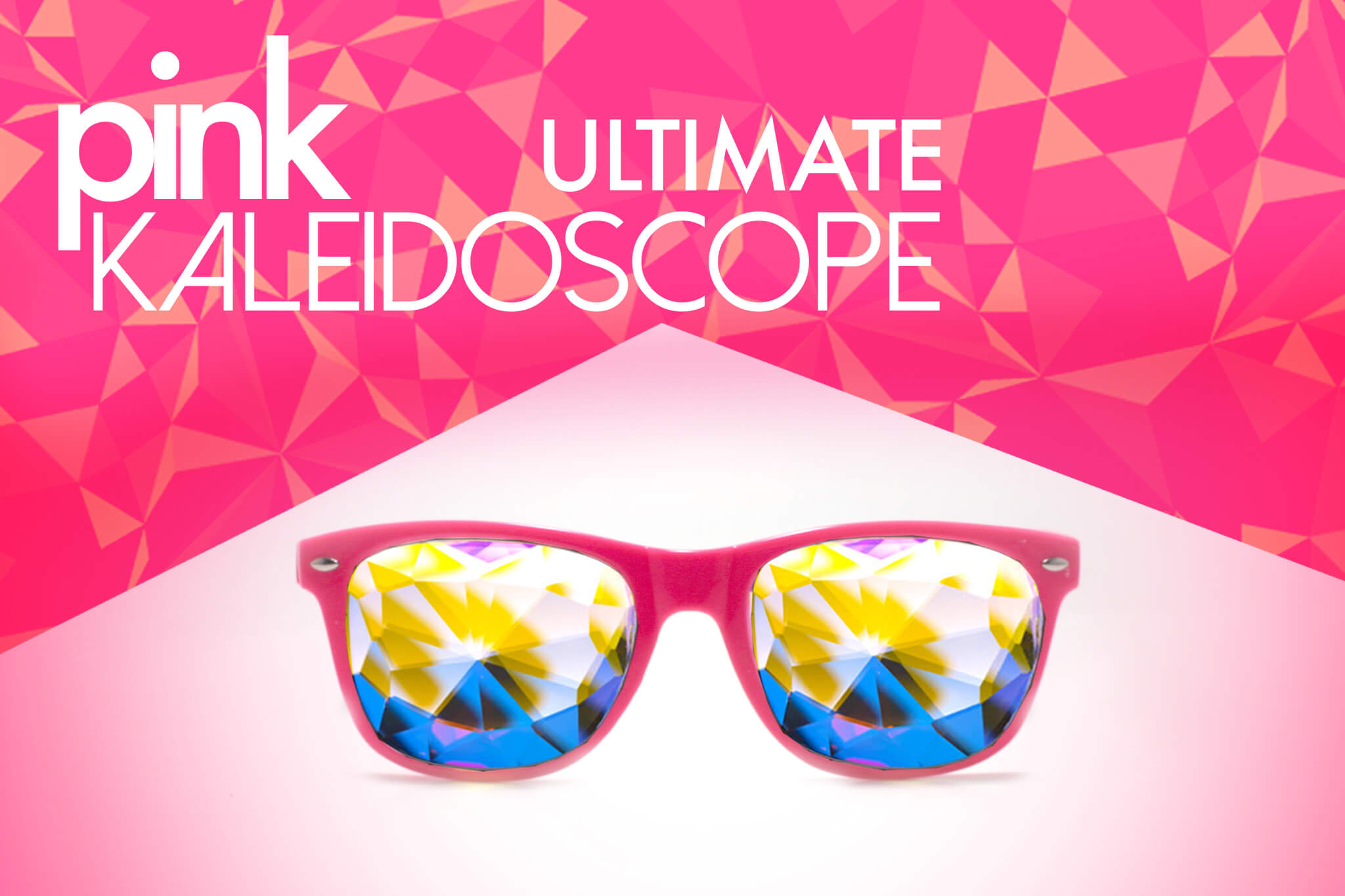 pink kaleidoscope glasses