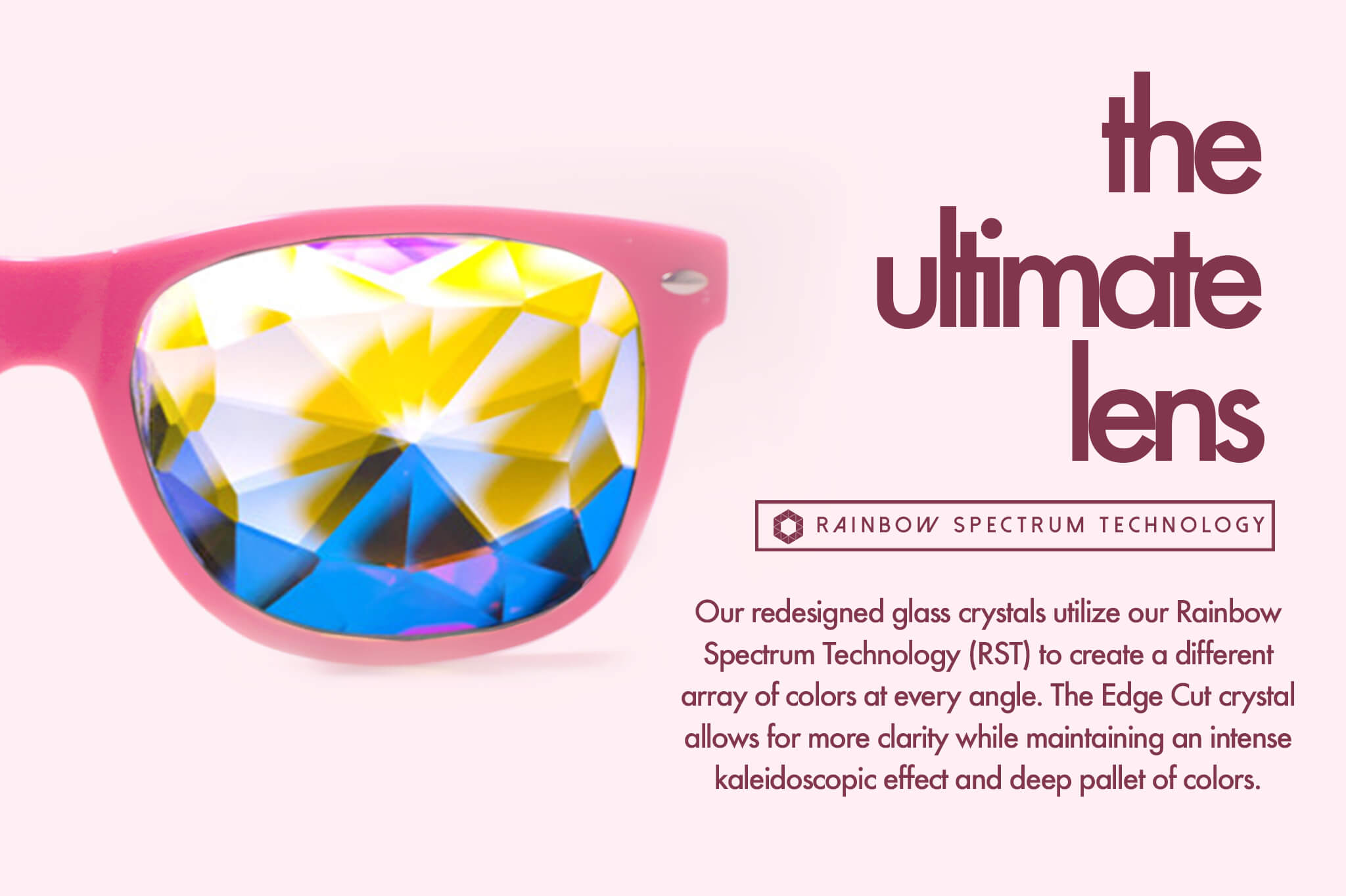 pink rave glasses