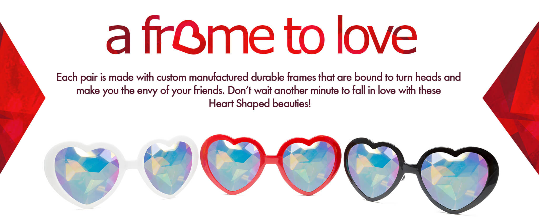 d6ae2386cae Heart Shaped Kaleidoscope glasses will plain and simple make you smile