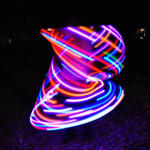 Glitch LED Hoop