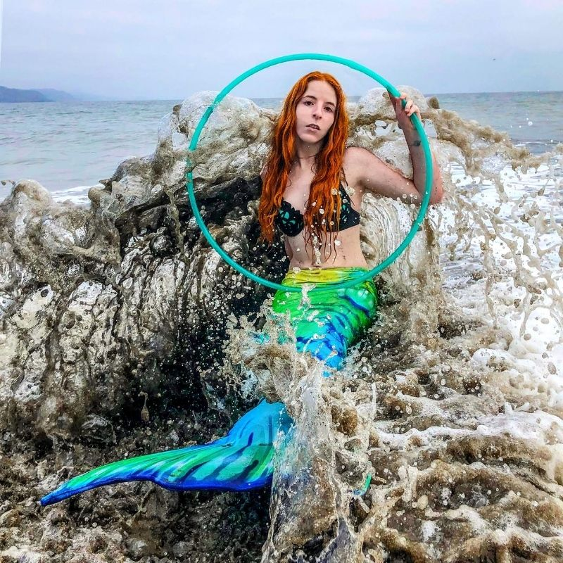 mermaid with a hula hoop - The Spinsterz