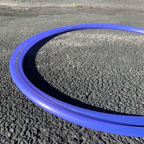 Blue Solar Changing Polypro Hula Hoop