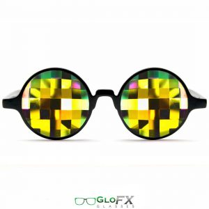 The Spinsterz - Rainbow Bug Eye Kaleidoscope Glasses