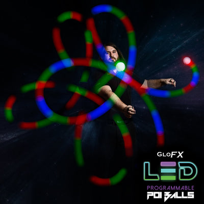 Programmable LED Poi Balls: 9-Mode