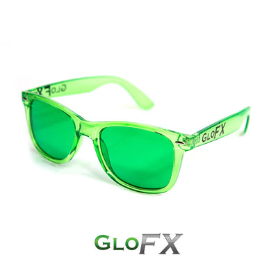 green color therapy glasses
