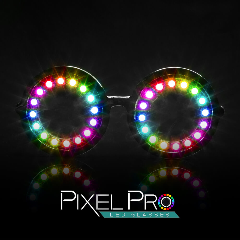 light up rave glasses pixel glasses