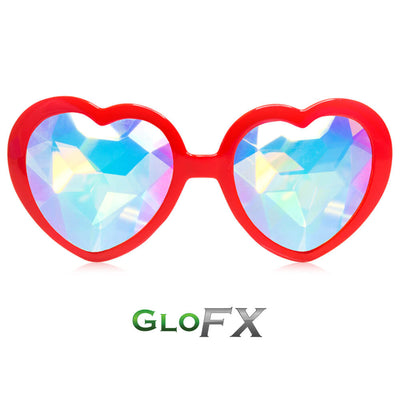 Heart Shaped Kaleidoscope Glasses