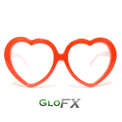 Heart Shaped Diffraction Glasses