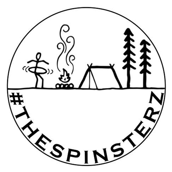 The Spinsterz - Camping and Hooping Sticker